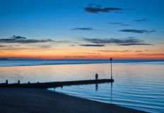 Free Whitstabe Sunset And Jetty Royalty Free Stock Photo - 26180935