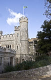 Whitstable城堡 库存照片