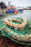 Whitstable港口捕鱼拖网渔船 免版税库存照片