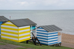 Whitstable beach huts Royalty Free Stock Images