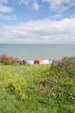 Whitstable beach huts Stock Photos