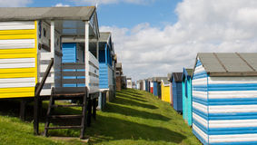 Whitstable beach huts Stock Photo
