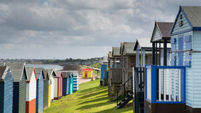 Whitstable beach huts Stock Photography