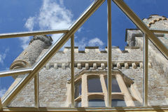 Whitstable Castle. This photo shows a quirky view of Whitstable Castle through a glass roof Stock Photography