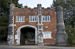 Whitstable Castle Gatehouse. The Gatehouse to Whitstable Castle in Kent England Royalty Free Stock Photo