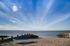 Whitstable cloudscape Royalty Free Stock Image