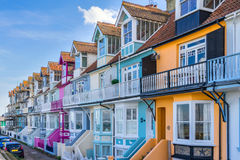 Whitstable. Colorful houses in Whitstable Kent Royalty Free Stock Photography