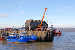 Whitstable fishing harbour Royalty Free Stock Photo