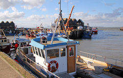 Whitstable harbour dock Stock Images