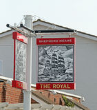 Whitstable Pub Sign Stock Photo