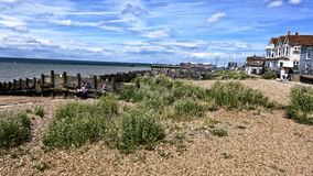 Whitstable. The quaint traditional seaside resort of Whitstable on the east coast of Britain famous for its oysters,Beaches and tourism Royalty Free Stock Photo