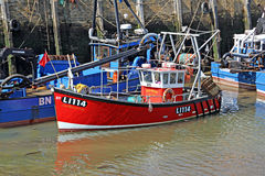 Whitstable's fishing harbour Stock Image