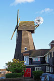 Whitstable smock windmill. Built in 1792, this 5 storey smock mill replaced an earlier mill further down Borstal Hill.  The sole survivor into the 21st century Royalty Free Stock Image