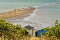 Whitstable street. A spit of land in Whitstable, Kent, only accessible at low tide Stock Image