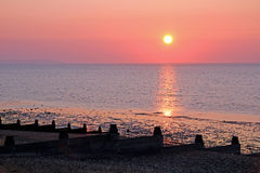 Whitstable sunset Stock Images