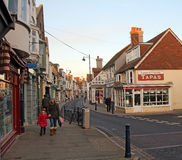 Whitstable town shoppers Royalty Free Stock Photo