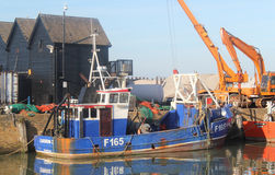 Whitstables Fishing Harbour Royalty Free Stock Photo