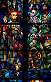 Whitsun  in stained glass Stock Images
