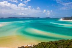 Whitsunday海岛沿海水域 库存照片