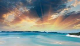 Whitsunday海岛的美妙的颜色 库存图片