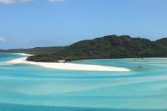 Whitsunday海岛绿松石水  免版税库存照片