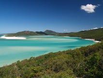 whitsunday障碍海岸极大的海岛的礁石 免版税库存照片