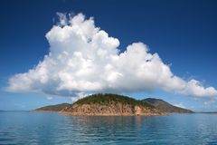 Whitsunday Island. White cloudscape over Whitsunday Island, Central Queensland, Australia Royalty Free Stock Photography