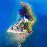 Whitsunday Island. Aerial landscape view of tropical Daydream Island in the Whitsundays Queensland Australia Stock Photography