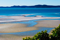Whitsunday Island, Queensland, Australia. White sand in Whitsunday Island, Queensland, Australia Stock Photos