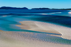 Whitsunday Island, Queensland, Australia. White sand in Whitsunday Island, Queensland, Australia Royalty Free Stock Images