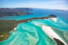 Whitsunday Islands. Aerial landscape of Whitehaven Beach in the Whitsundays, Queensland Australia Stock Images