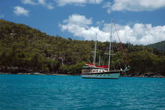 Whitsunday islands. Sail in the whitsunday islands, queensland australia Royalty Free Stock Image