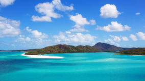 Whitsunday Islands. Whitehaven Beach in the Whitsunday islands in Australia Royalty Free Stock Images