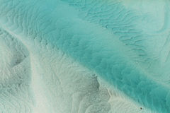Whitsundays sand patterns. Patterns in the sand in the Whitsunday Islands Royalty Free Stock Image