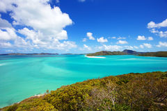 Whitsundays. Whitehaven Beach in the Whitsunday islands in Australia Royalty Free Stock Photos