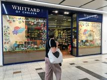 Whittard του καταστήματος της Chelsea στο Λονδίνο στοκ φωτογραφία
