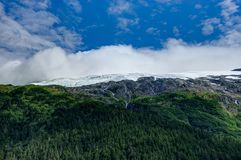 Whittier冰川视图在阿拉斯加美利坚合众国 库存图片