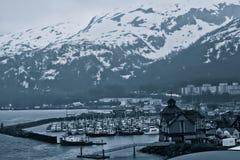 Whittier,阿拉斯加 免版税库存图片