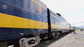 Whittier, AK - CIRCA 2013: Alaska railroad train locomotives
