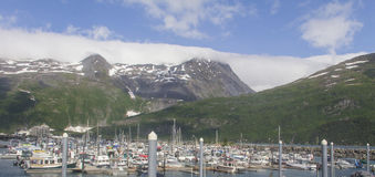 Whittier, Alaska-Hafen Stockfotos