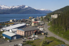 Whittier, Alaska. The small coastal town of Whittier in Alaska, near the bay Stock Images
