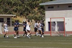03-14 Whittier Frauen ` s Lacrosse 2016 5 Fairleigh Dickerson 18 Lizenzfreie Stockbilder