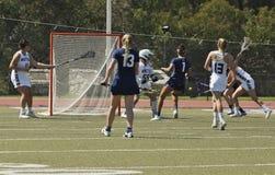 03-14 Whittier Frauen ` s Lacrosse 2016 5 Fairleigh Dickerson 18 Lizenzfreie Stockfotografie
