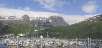 Whittier, porto de Alaska Fotos de Stock
