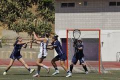 03-14 Whittier van 2016 Vrouwen` s Lacrosse 5 Fairleigh Dickerson 18 Royalty-vrije Stock Afbeelding