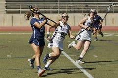 2016 03-14 Whittier Women`s Lacrosse 5  Fairleigh Dickerson 18 Stock Image