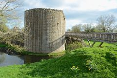 Whittington castle. The old ruin of Whittington castle in Shropshire, England Stock Image