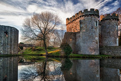 Whittington Castle in Shropshire Stock Images