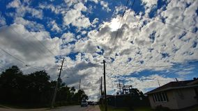 Whitw puffy clouds Royalty Free Stock Images