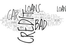 Whiz Around The City In Your Dream Car With Bad Credit Car Loans Word Cloud Stock Photos